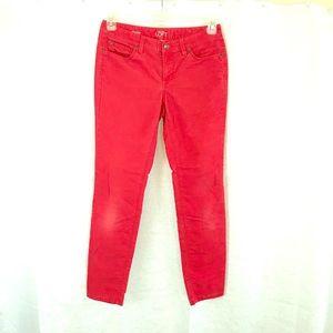 LOFT Modern Skinny Red Corduroys 4